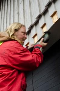 Ulrik förbereder för ny garageport