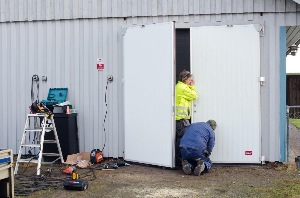 Montering av ny garageport