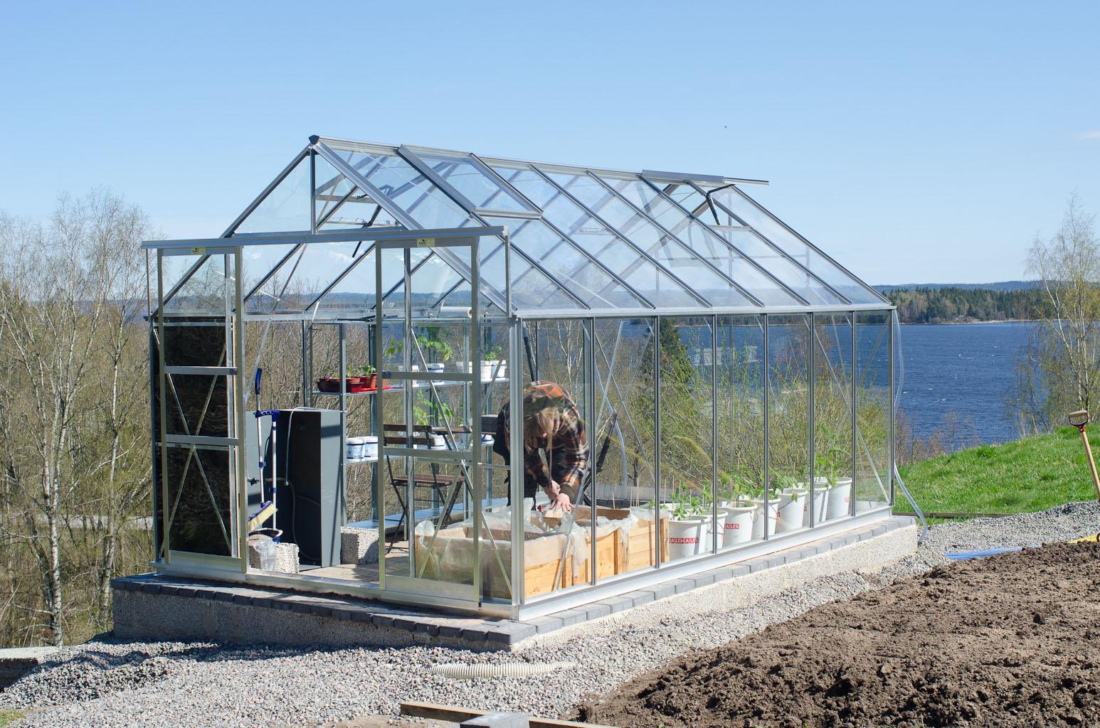 montera växthus skånska byggvaror