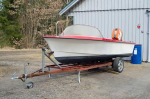 Båten strax efter vi köpt den
