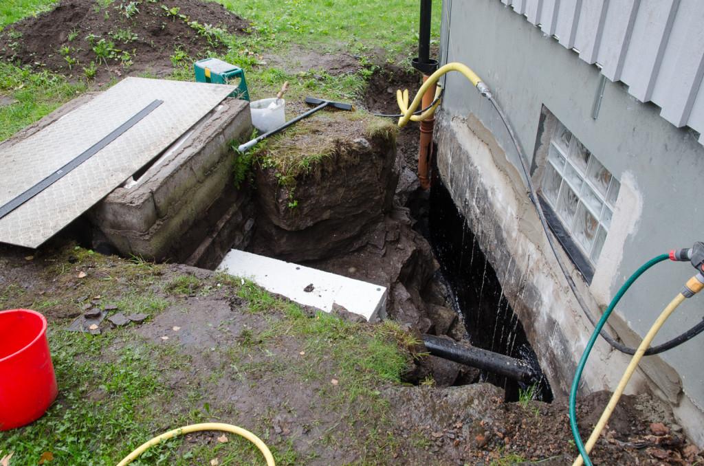 Isolering av vattenledning